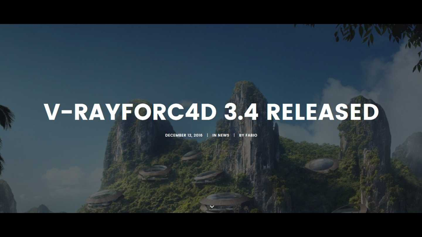 V-Ray 3.4 for C4D - OUT NOW!